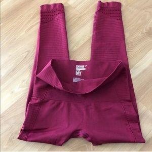 Gymshark seamless leggings - red